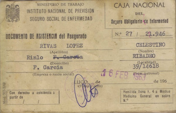 Documento de asistencia do asegurado